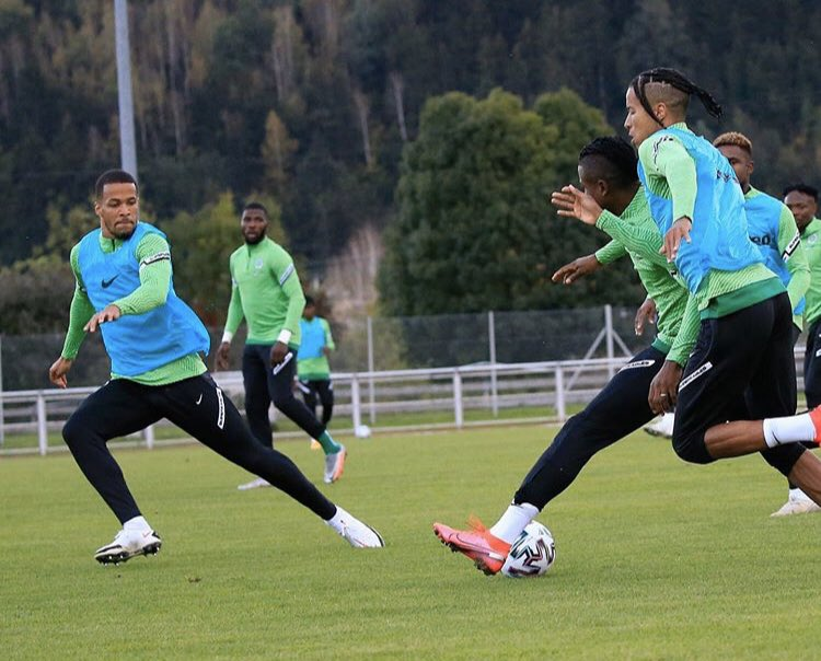 Super Eagles training session [PHOTO CREDIT: @thenff]