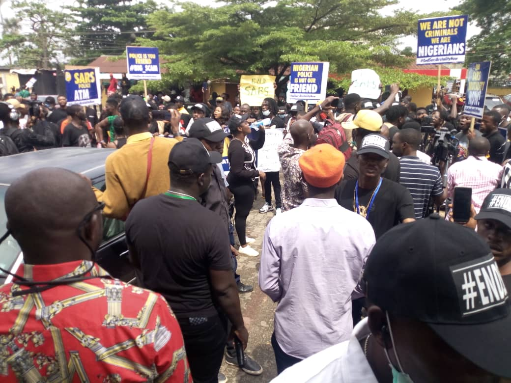 End SARS protesters in Benin