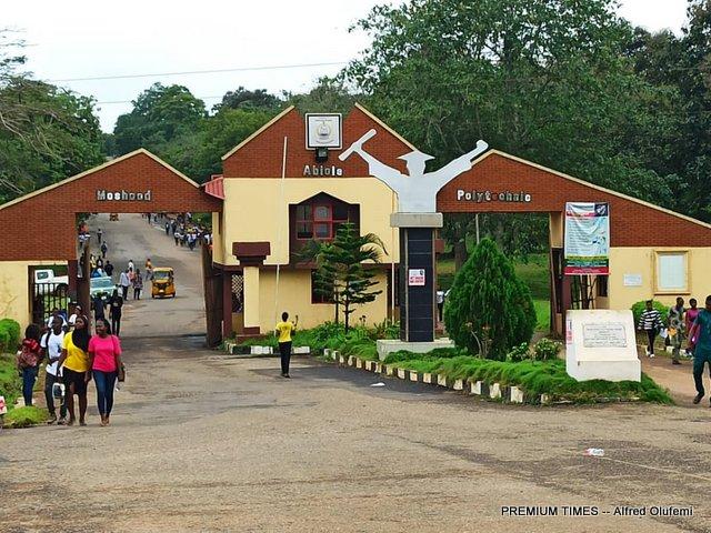 Entrance of Moshood Abiola Polytechnic (MAPOLY)