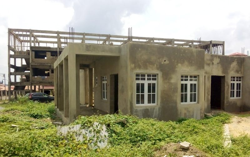 Exterior of uncompleted glaucoma centre