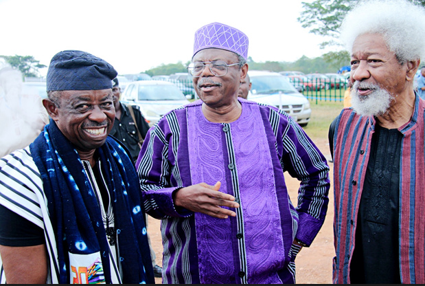 Tunde Kelani, Toyin Falola, and Wole Soyinka