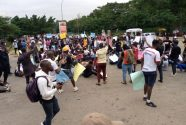EndSARS: Protesters besiege Police Headquarters Abuja