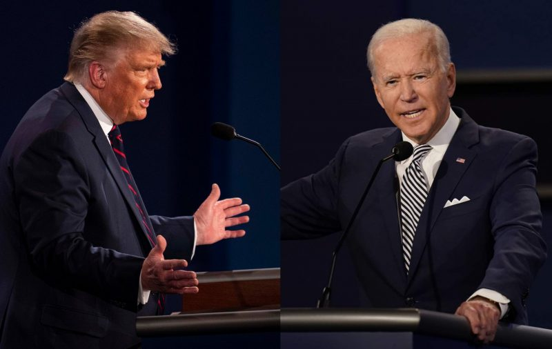 U.S. President Donald Trump and Democratic presidential nominee, Joe Biden