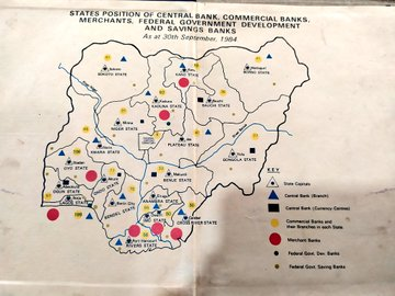 A map showing the location of all banks in the country in 1984 (Credit: Twitter, @Bodasheeee).