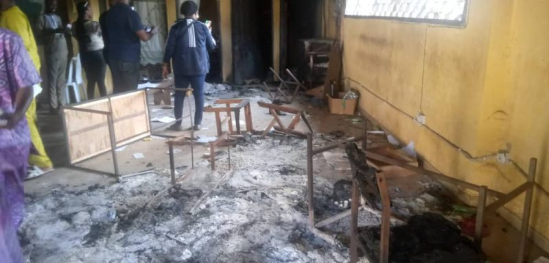 Destroyed Records Department of Oko Prisons (MSCC) Benin