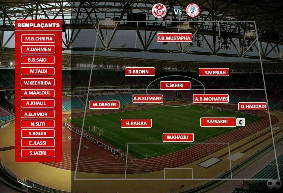 Tunisia Line Up Vs Nigeria