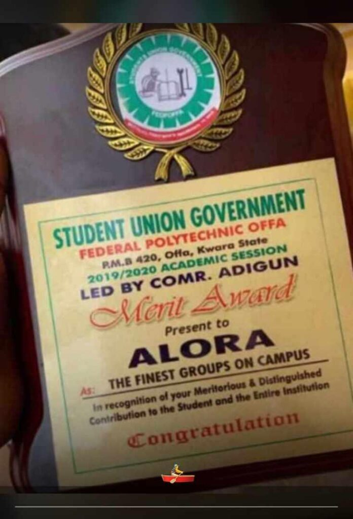Awards to Alore confraternity