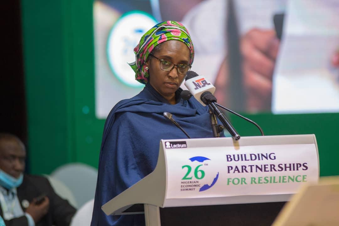 Zainab Shamsuna Ahmed, Minister of Finance at #NES26 [PHOTO: @officialNESG]