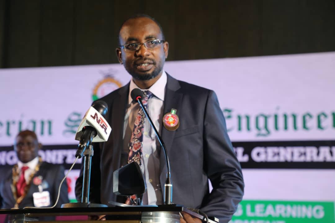 NITDA Director General, Kashifu Abdullahi, addressing the NSE conference on Monday