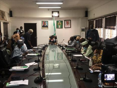 File photo of ASUU meeting with the Nigerian govt delegation