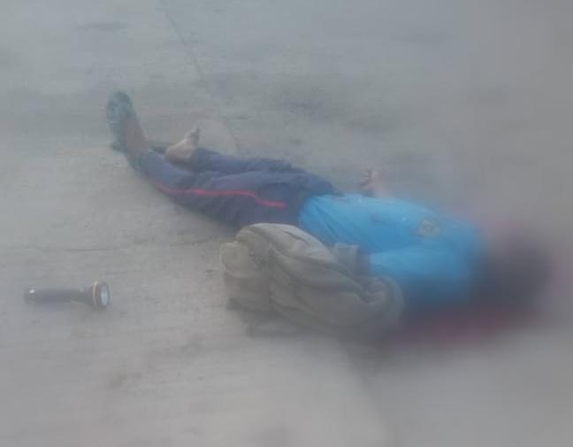 Late Gospel Gbarakas lifeless body on the street