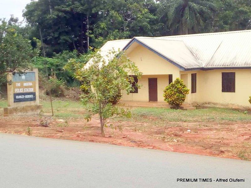 Abandoned police station in Idumuje-Ugboko
