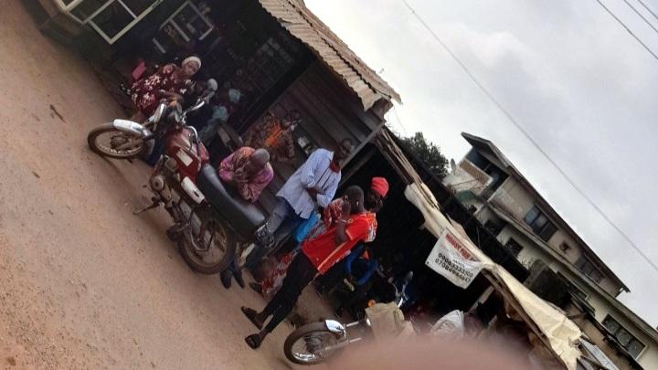 Enrollees waiting to be captured at Parakin office