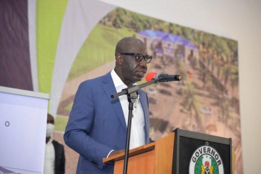 The Edo State governor, Godwin Obaseki [PHOTO CREDIT: @GovernorObaseki]