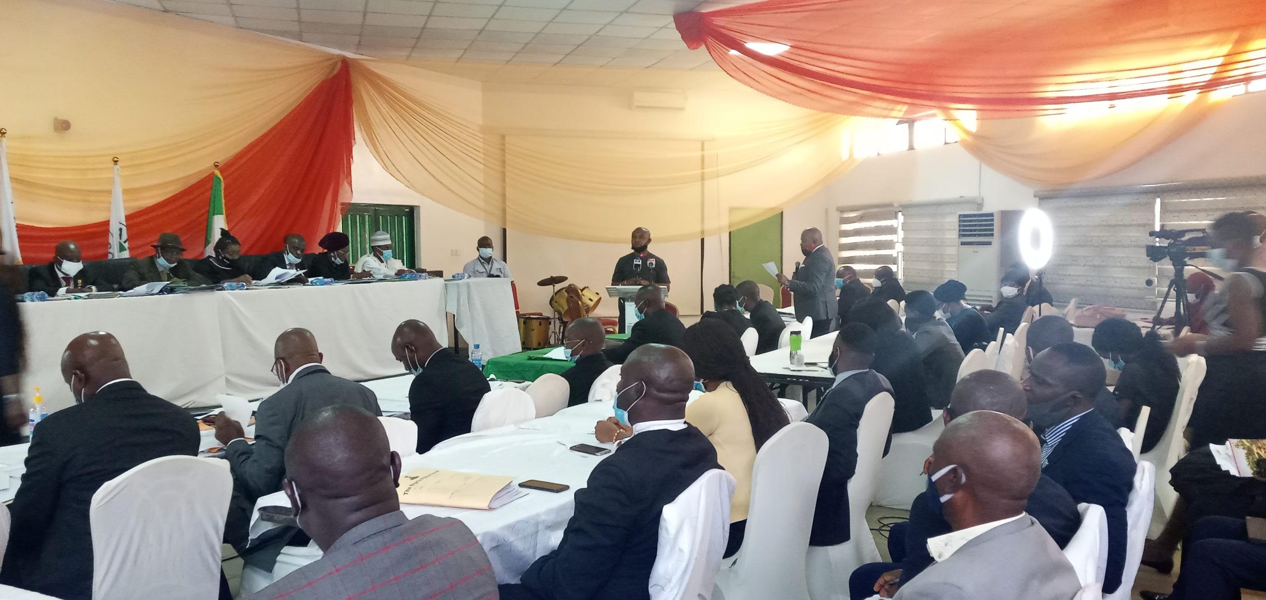 Mr Leera addressing Abuja panel