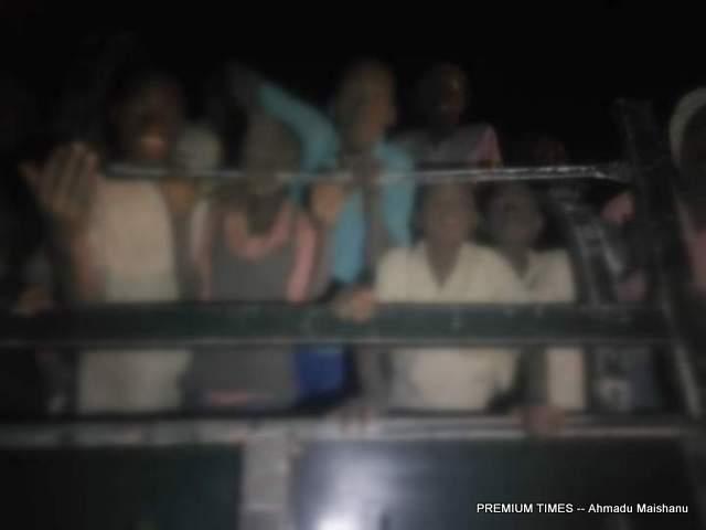 The released Schoolboys being transported from Tsafe LGA in Zamfara to Katsina aboard Military van.