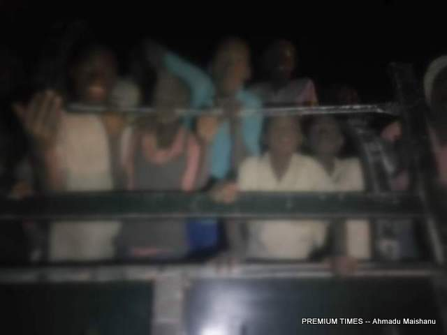 The released Schoolboys being transported from Tsafe LGA in Zamfara to Katsina aboard Military van.
