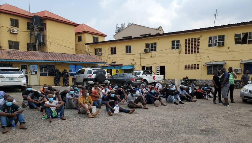 Lagos police parade 237 residents arrested in nightclubs