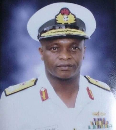 Chief of Naval Staff, Rear Admiral Auwal Gambo (PHOTO CREDIT: Twitter @GarShehu)
