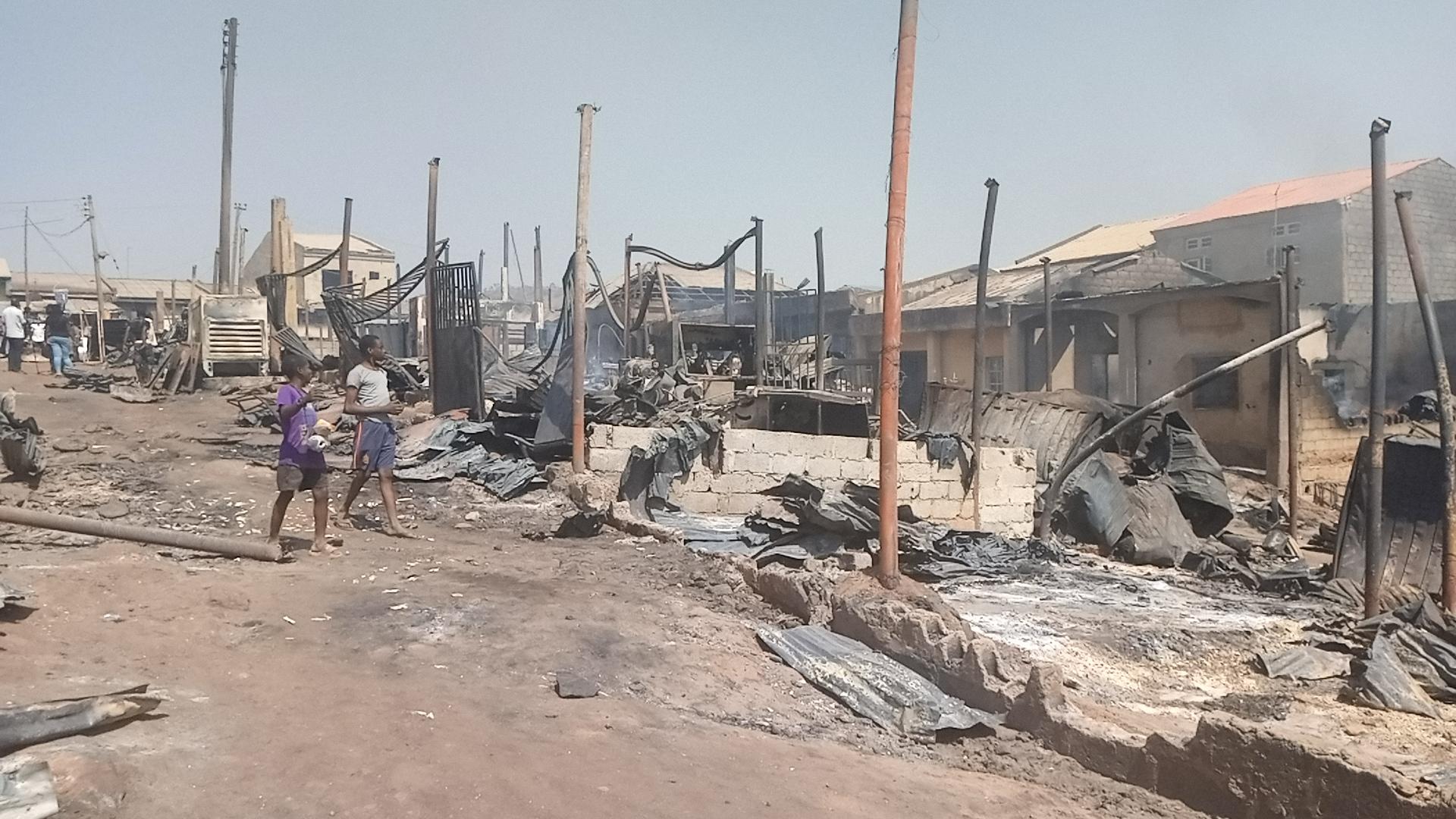 Burnt shops