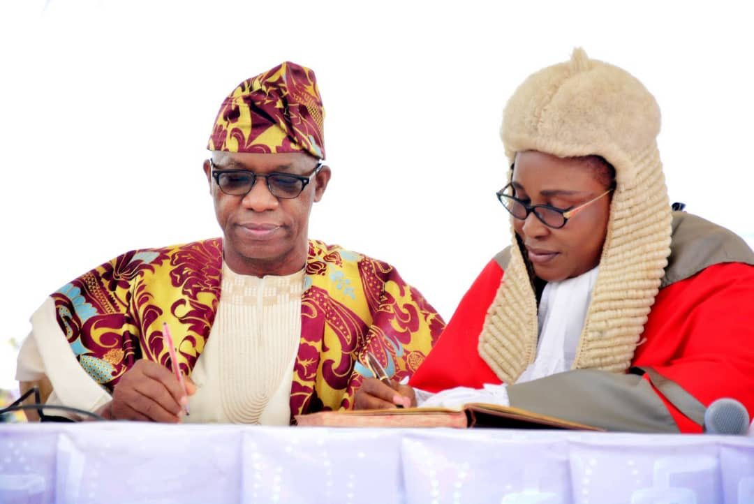 Dapo Abiodun at his inauguration as 5th Executive Governor of Ogun State