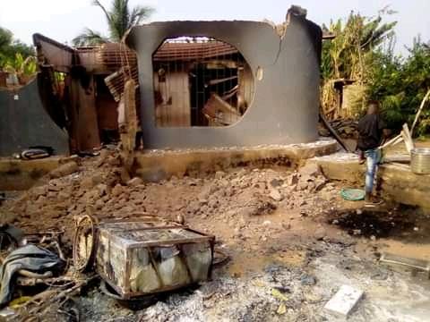 Deceased Imuetinyan burnt house