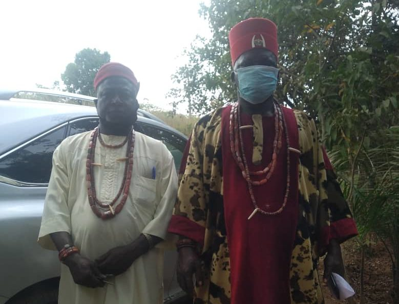 King of Opi Agu, Igwe Pius Agbo and his cabinet member