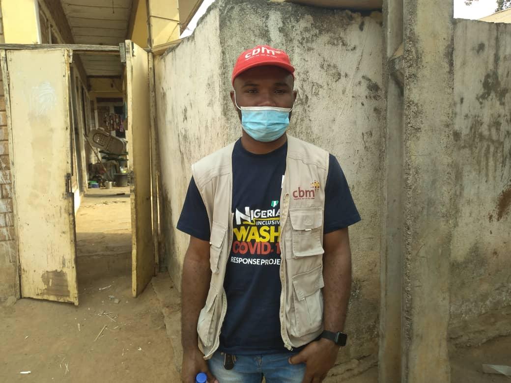 Emeka Duru, the program officer of Christoffel-Blindenmission (CBM) during Saturday's outreach.