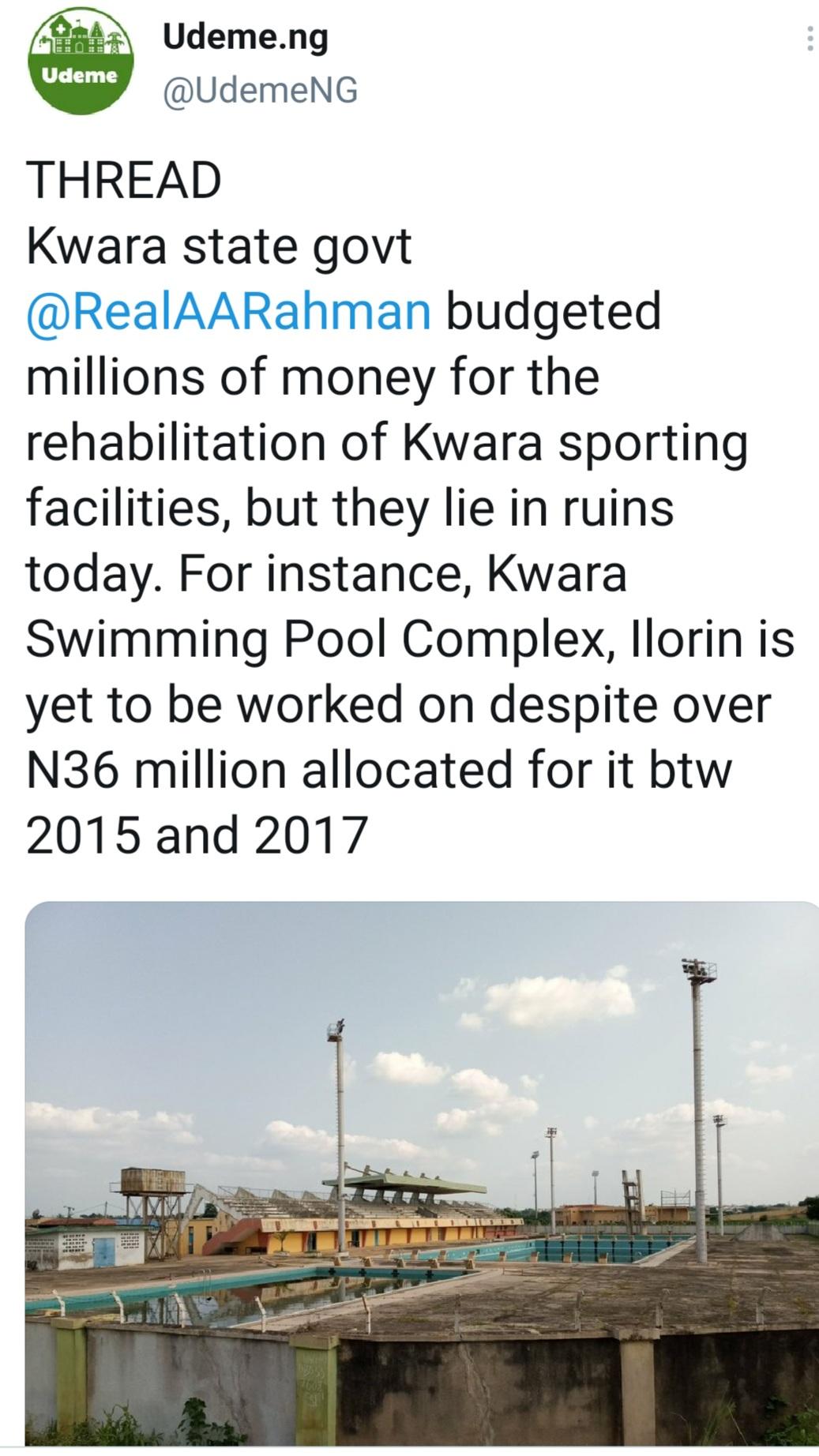 Kwara State commences rehabilitation project after Udeme report
