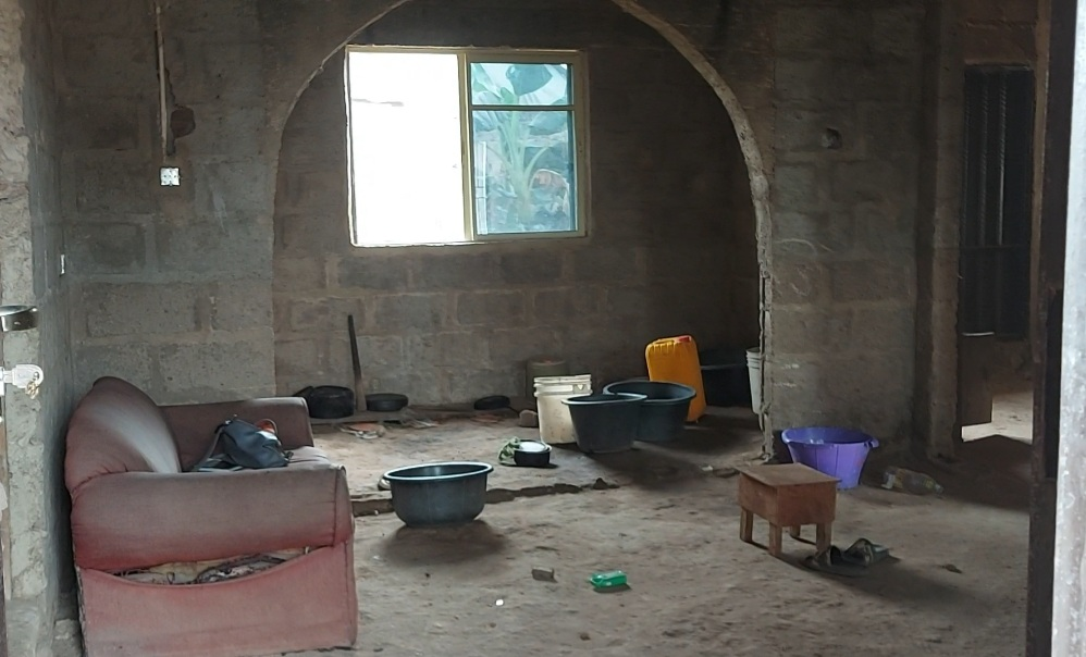 Mr Akinbodewa's living room