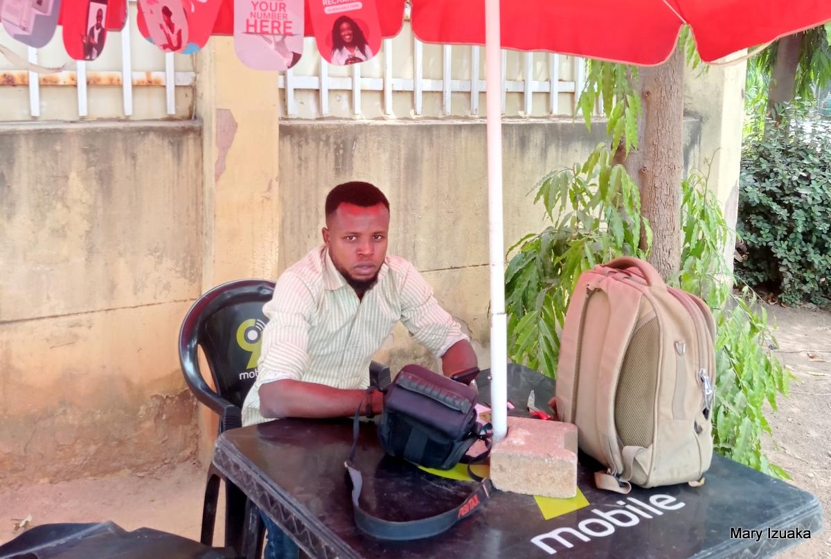 Adenuwa Olamilekan a SIM registration agent at Bannex
