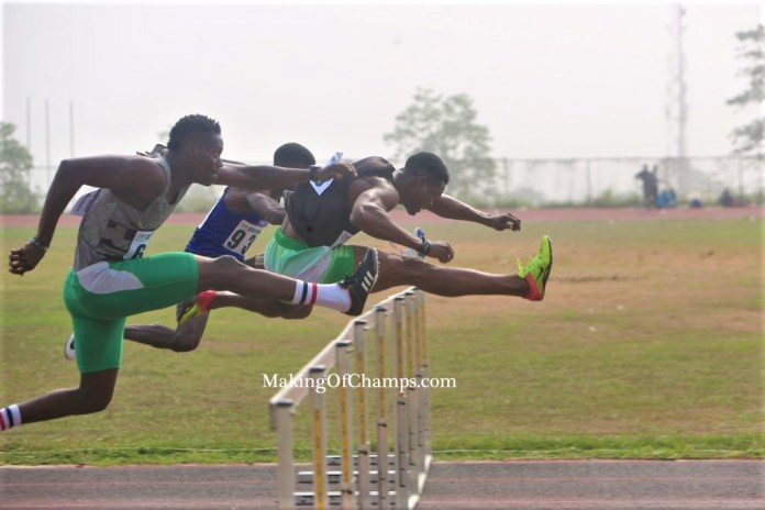 Athlete competing at the Akure Meet