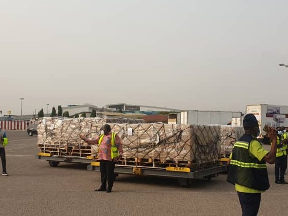 Ghana gets delivery of COVID19 vaccines from the COVAX facility [PHOTO CREDIT: @WHOAFRO]