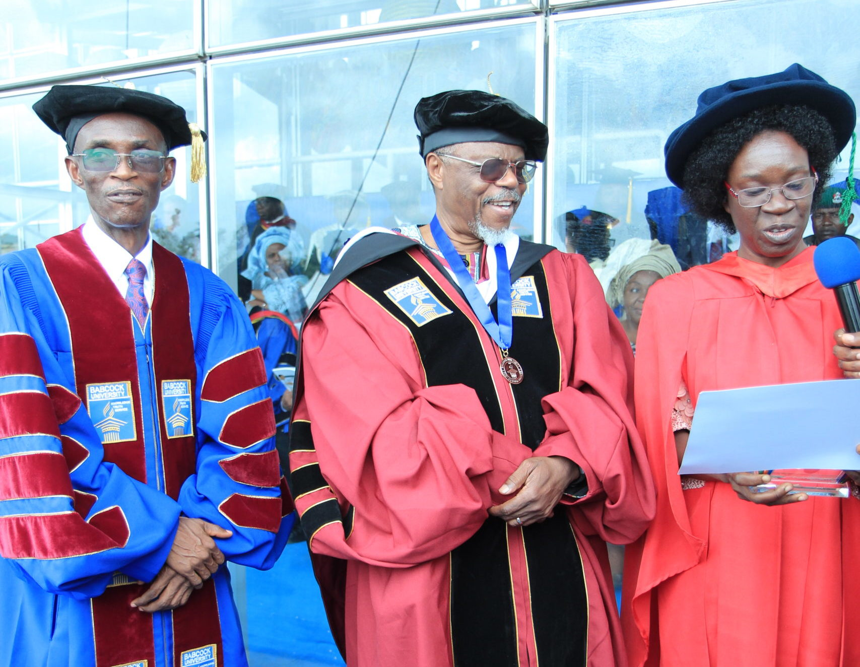 Toyin Falola, receiving an honorary doctorate from Babcock University.