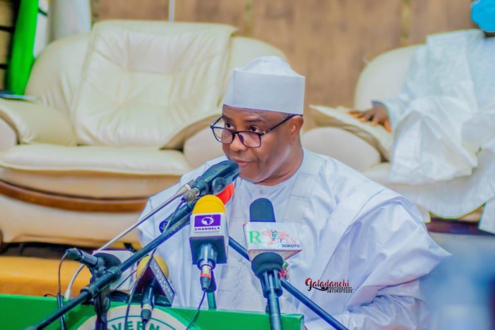 Governor of Sokoto State, Aminu Tambuwal, Chairman of the PDP governor's forum [PHOTO CREDIT: @AWTambuwal]