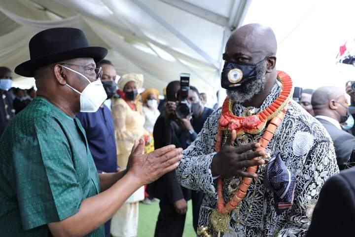 Governor Nyesom Wike was there