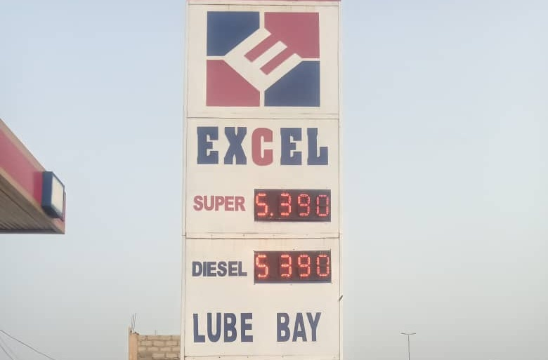 A price indicator at a fuel station in the Awoshie area of Ablekuma North Municipality, in the Greater Accra Region of Ghana. Credit: Yusuf Akinpelu