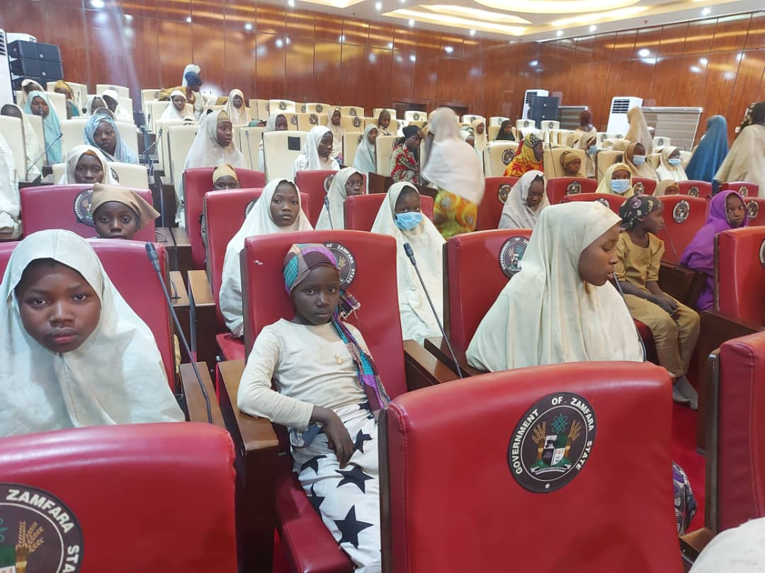 The 317 schoolgirls that were kidnapped from the Government Girls Secondary School, Jangebe, in Talata Mafara Local Government Area of Zamfara State
