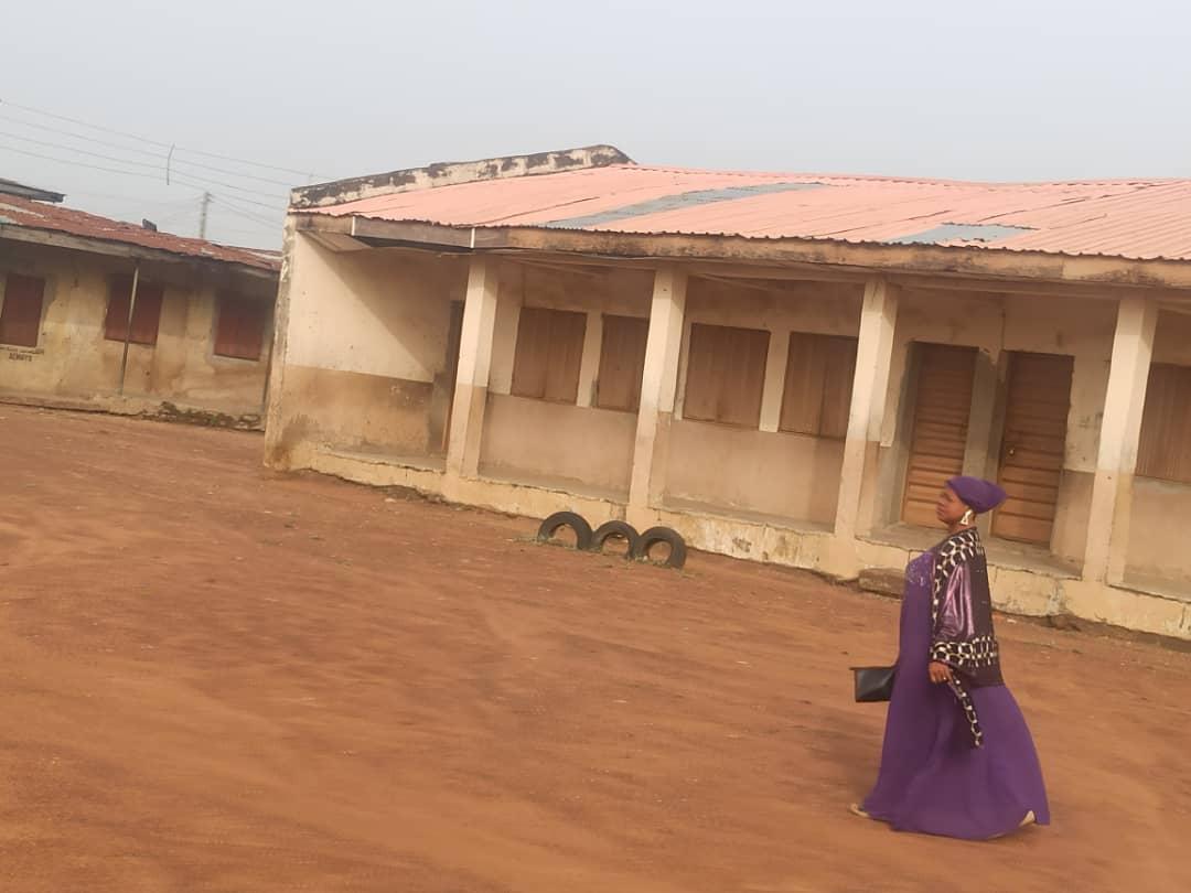 Teacher arrives Baptist Secondary school, Surulere