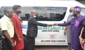 Tinubu donates bus to Lagos journalists union