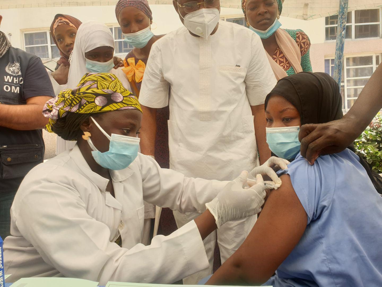 COVID-19 vaccination [PHOTO CREDIT: @UNICEF_Nigeria]
