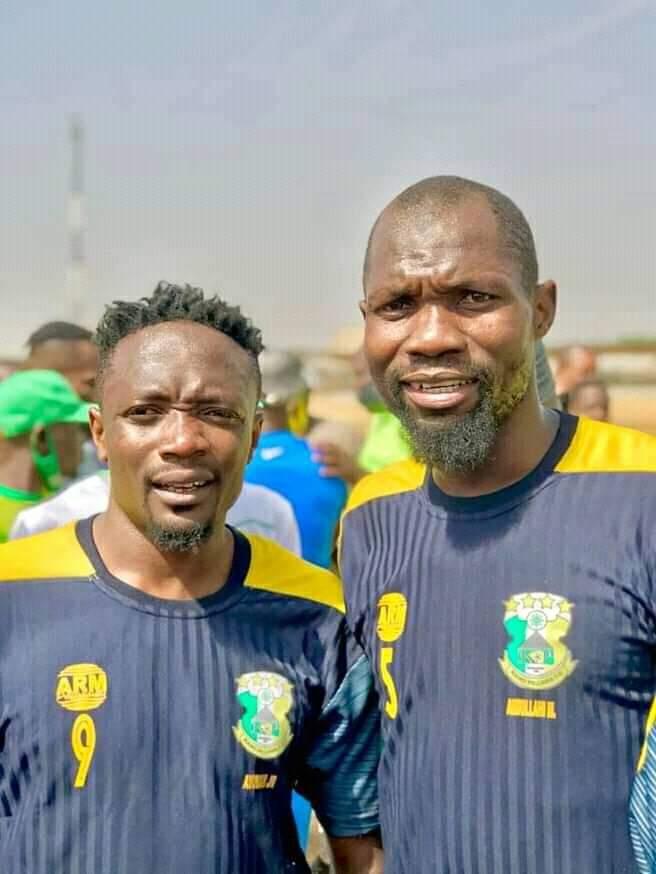 Ahmed Musa with Kano Pillars teammates [PHOTO CREDIT: @pillarsfc]