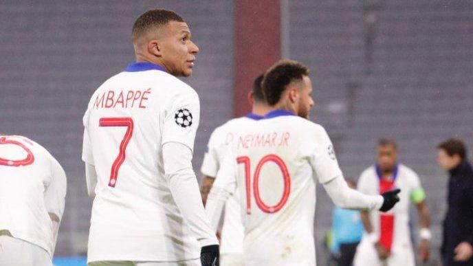 PSG's Mbappe celebrates goal. [CREDIT: Twitter handle of PSG]