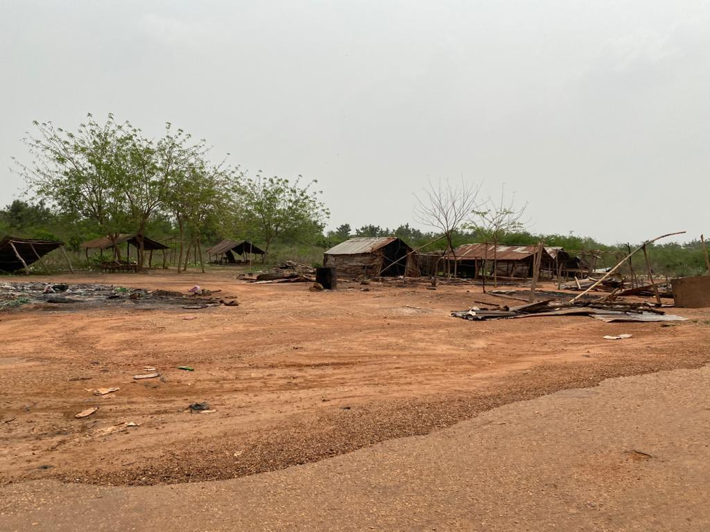 Scene of the Fulani settlement in Eggua that was razed on February 1 by an angry mob.