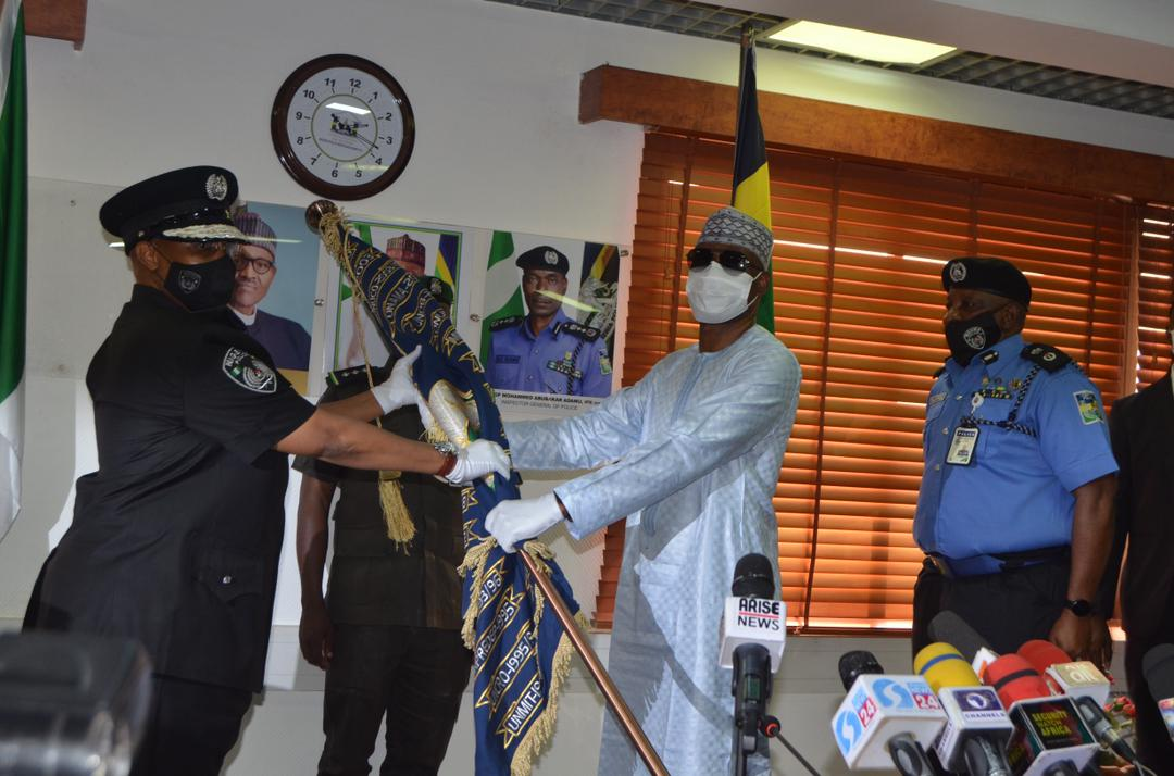 Ex IGP Mohammed Adamu formally hands over to Ag IGP Usman Alkali CREDIT: Force Public Relations Department