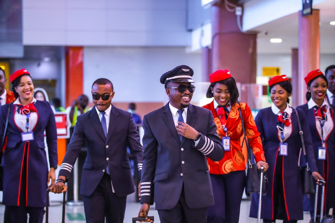 The Cabin crew of Air Peace