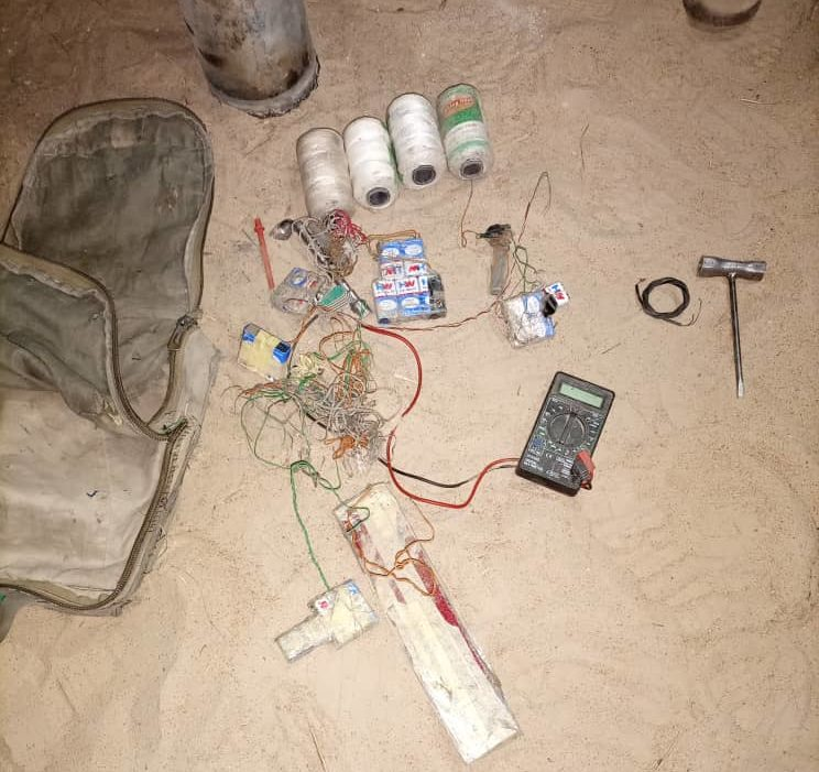 Some weapon recovered from Boko Haram after the foiled attack [Photo Credit Nigerian Army]