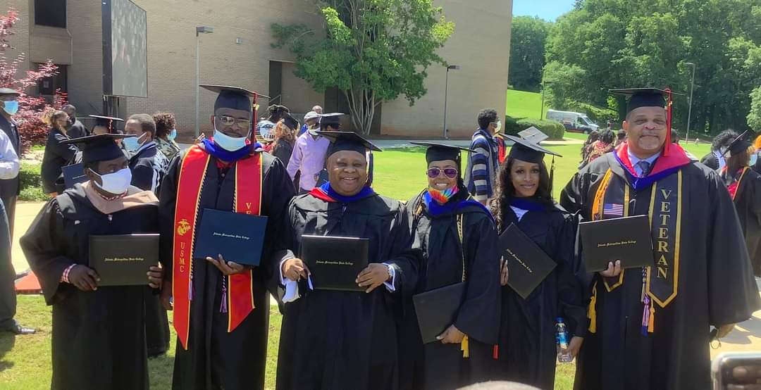 Ademola Adeleke during his graduation ceremony at U.S. college