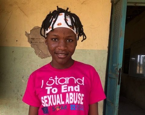 Ruth, one of the teen graduates of the mentor ship program against child sexual abuse