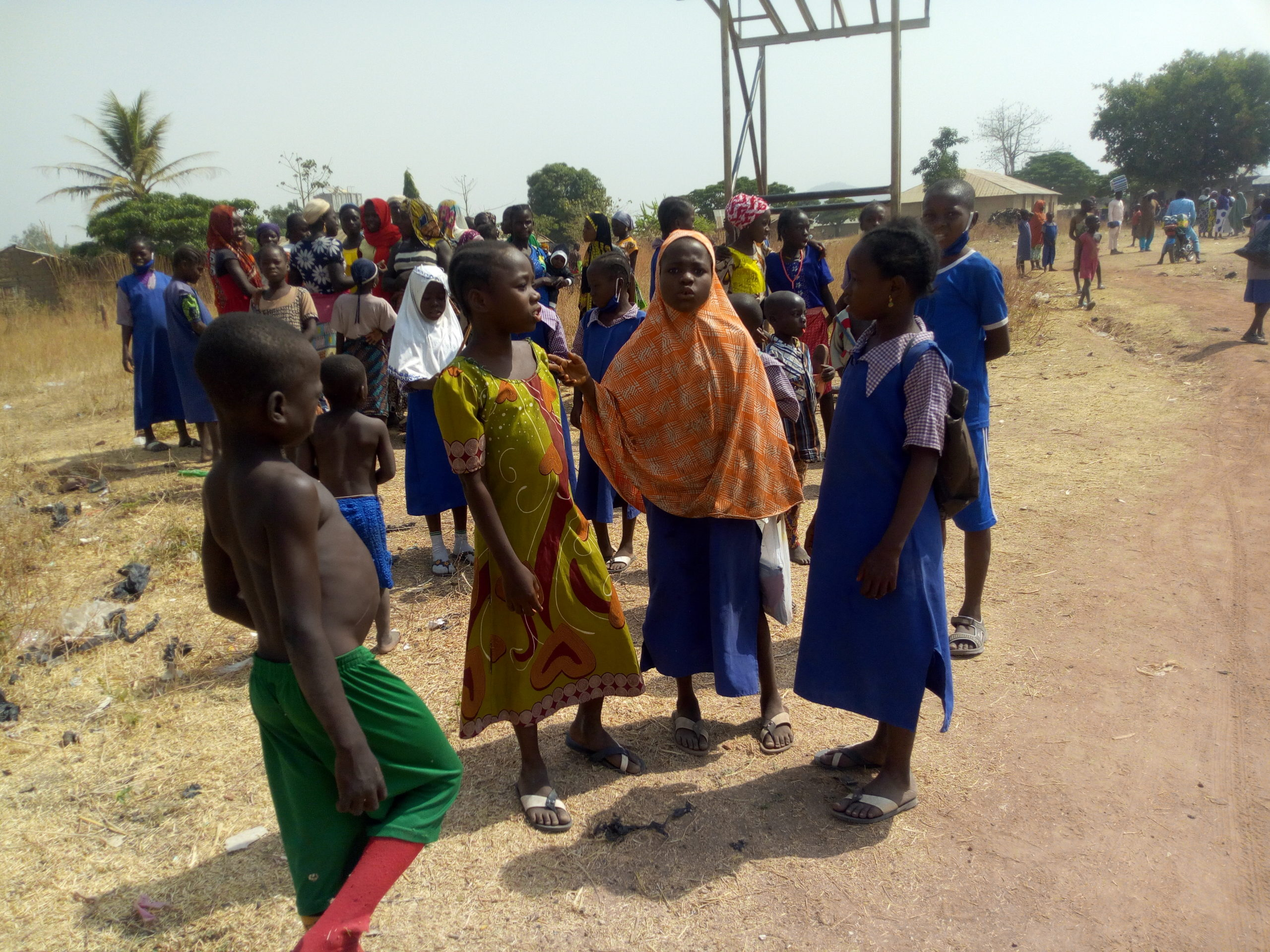 Pupils playing during their break period